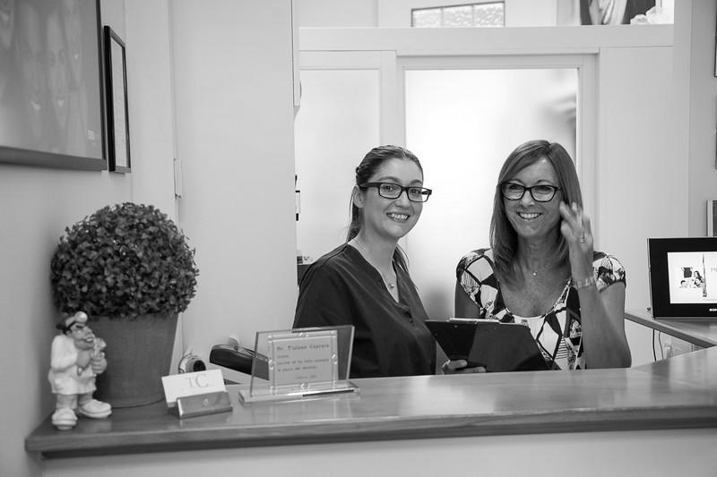 lo staff dello studio dentistico Tiziano Caprara